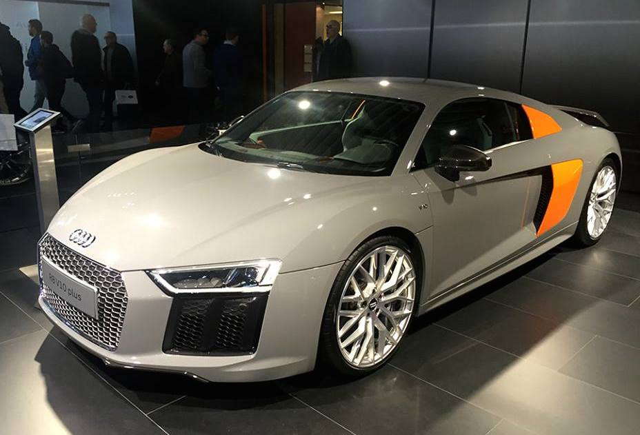Unique Audi R8 V10 Plus At Brussels Auto Show
