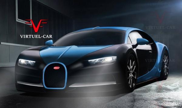 Bugatti Chiron render 600x355 at Bugatti Chiron   Latest Rendering