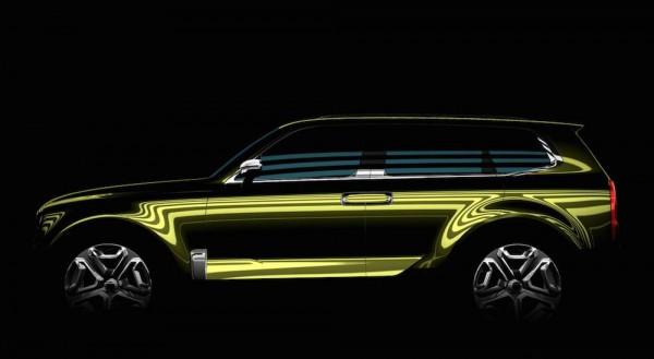 KIA SUV Concept Teaser 600x329 at KIA SUV Concept Teased for Detroit Debut