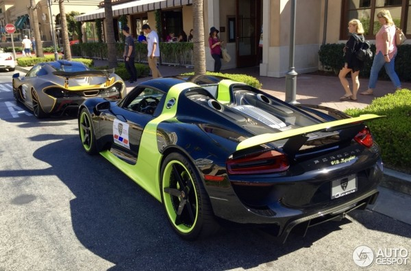 Porsche 918 green livery 1 600x396 at Is This the Worst Livery for a Porsche 918?