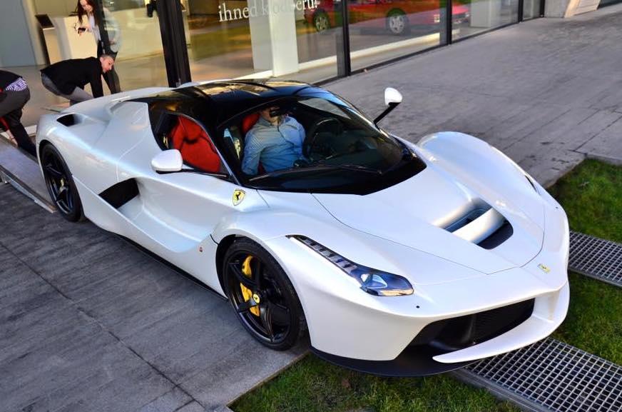 Bianco Fuji Ferrari Laferrari Arrive In Prague