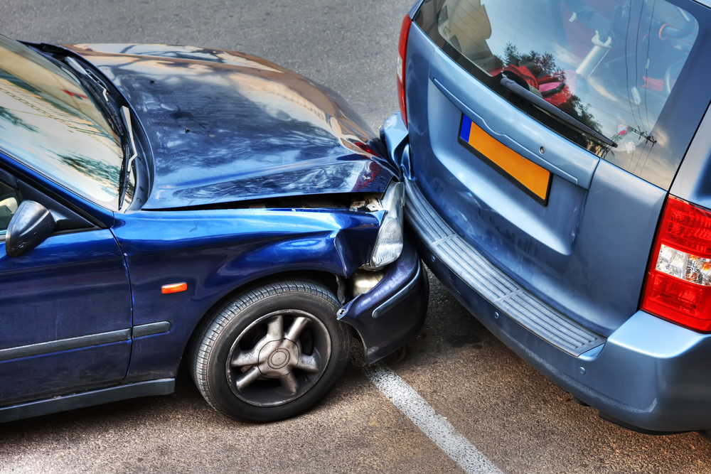Car Accident at The most common causes of road accidents