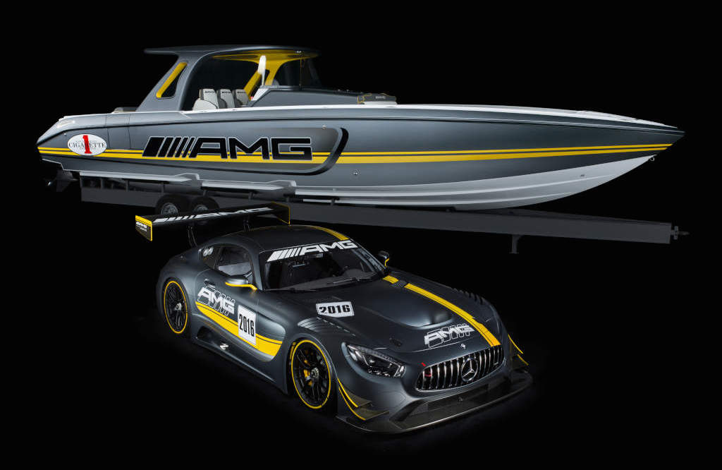 Cigarette Racing GT3 0 at Mercedes AMG GT3 Inspires Cigarette Racing Performance Boat