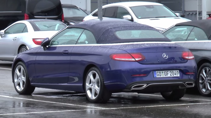 Mercedes C Class Cabriolet vid at Mercedes C Class Cabriolet Caught Undisguised