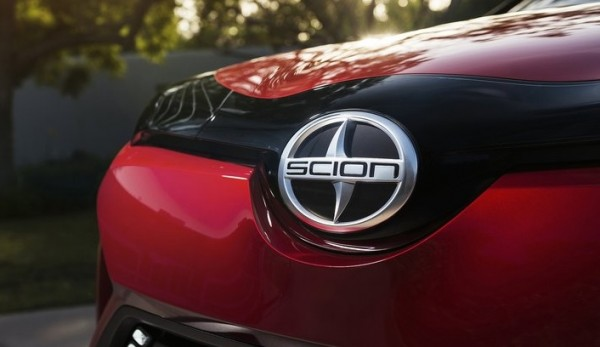 scion grille badge 600x347 at Scion Brand Dropped, Cars to be Re badged Toyota