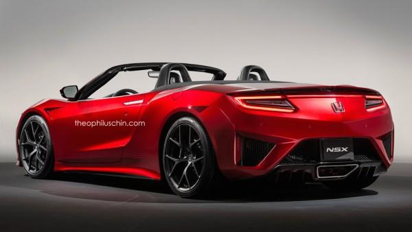 Acura NSX Roadster render 2 600x338 at Fantastic Acura NSX Roadster Renders Emerge