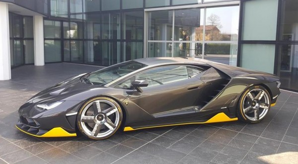 Lamborghini Centenario Snapped Outside Factory