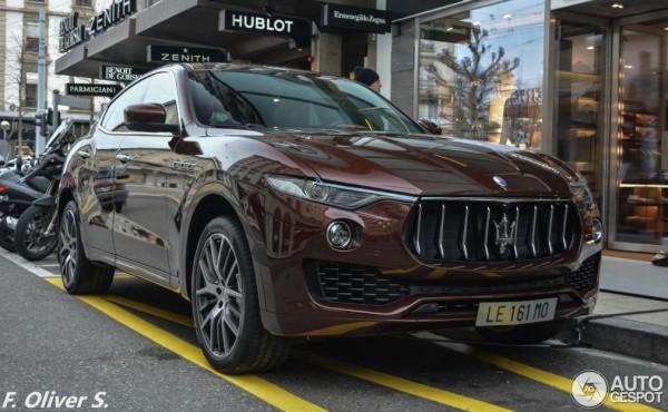 Maserati Levante Spot 0 600x370 at Maserati Levante Spotted on the Streets of Geneva