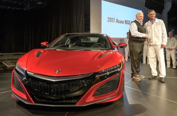 2017 Acura NSX VIN 001 Hendrick 600x395 at Rick Hendrick Takes Delivery of the First Acura NSX
