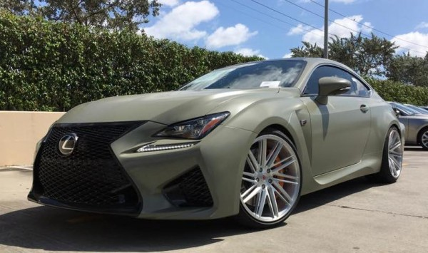 Army Green RC F 0 600x355 at Army Green RC F Is Our Kind of Lexus