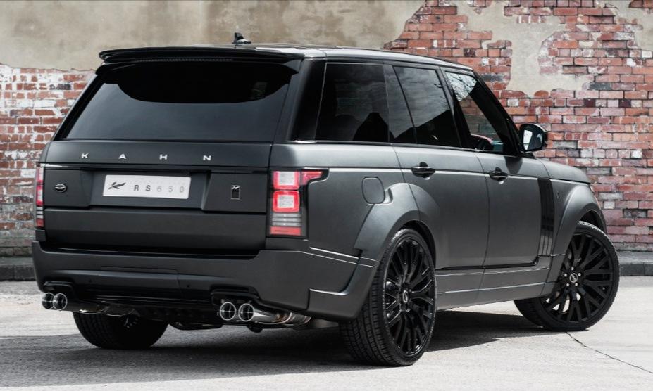 The Black Prince: Kahn Range Rover in Satin Black