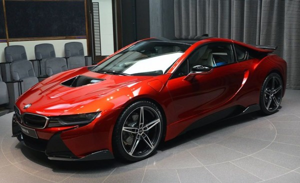 Lava Red BMW i8 0 600x366 at One Off Lava Red BMW i8 from Abu Dhabi