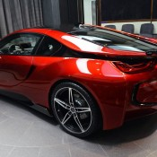 Lava Red BMW i8 13 175x175 at One Off Lava Red BMW i8 from Abu Dhabi