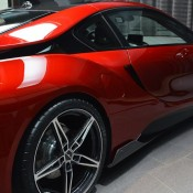 Lava Red BMW i8 15 175x175 at One Off Lava Red BMW i8 from Abu Dhabi
