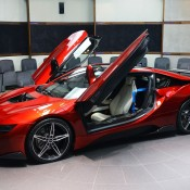 Lava Red BMW i8 17 175x175 at One Off Lava Red BMW i8 from Abu Dhabi