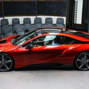 Lava Red BMW i8 2 175x175 at One Off Lava Red BMW i8 from Abu Dhabi
