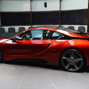Lava Red BMW i8 5 175x175 at One Off Lava Red BMW i8 from Abu Dhabi