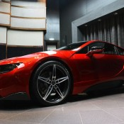 Lava Red BMW i8 6 175x175 at One Off Lava Red BMW i8 from Abu Dhabi