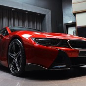 Lava Red BMW i8 8 175x175 at One Off Lava Red BMW i8 from Abu Dhabi