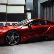 Lava Red BMW i8 9 175x175 at One Off Lava Red BMW i8 from Abu Dhabi