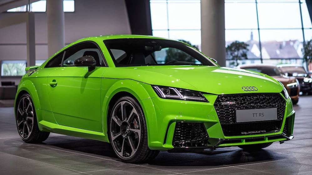 Lime Green Audi Tt Rs Looks So Fresh You Wanna Squeeze It