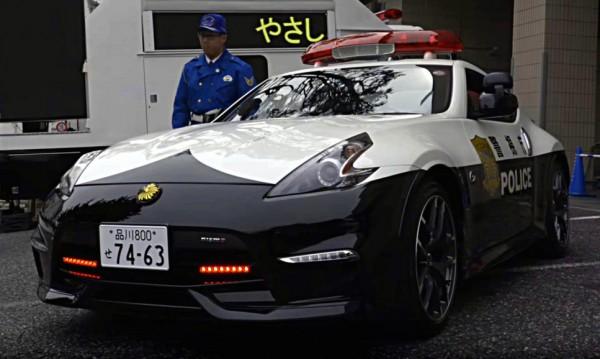 Nissan 370Z Nismo Police Car 1 600x359 at Nissan 370Z Nismo Police Car Revealed in Japan