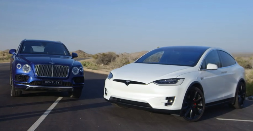 Super Suv Battle Royale Tesla Model X V Bentley Bentayga
