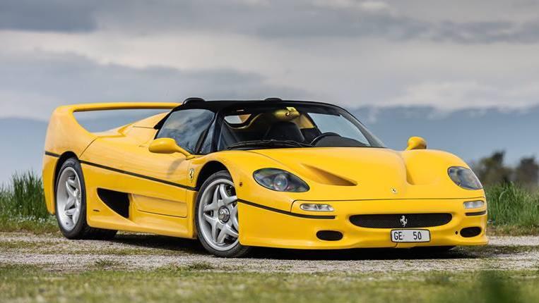 Photoshoot Yellow Ferrari F50 In Switzerland