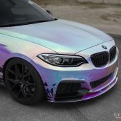 BMW M235i Rainbow Chrome 10 175x175 at BMW M235i with Rainbow Chrome Wrap