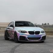 BMW M235i Rainbow Chrome 12 175x175 at BMW M235i with Rainbow Chrome Wrap