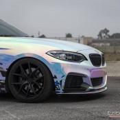 BMW M235i Rainbow Chrome 14 175x175 at BMW M235i with Rainbow Chrome Wrap