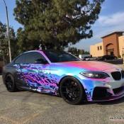 BMW M235i Rainbow Chrome 3 175x175 at BMW M235i with Rainbow Chrome Wrap