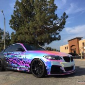 BMW M235i Rainbow Chrome 4 175x175 at BMW M235i with Rainbow Chrome Wrap
