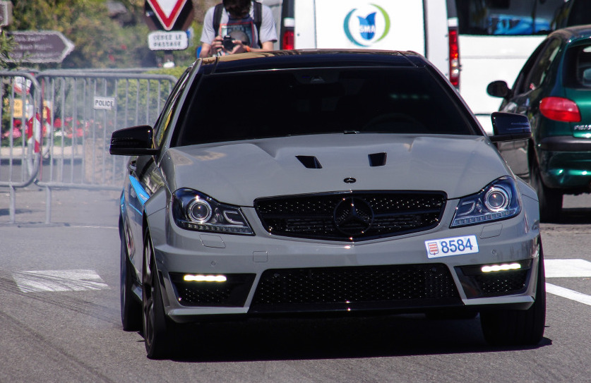 Mercedes C63 AMG Coupe Edition 507 Caught Smoking in Monaco