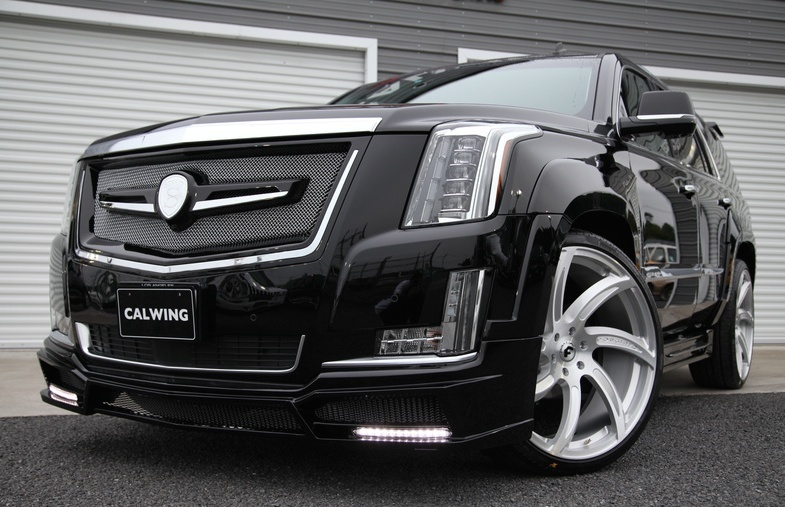 Giants' ex player kung fu panda goes custom with his 2015 cadillac.