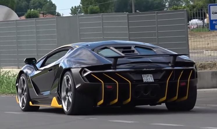 Lamborghini Centenario Filmed Around The Factory