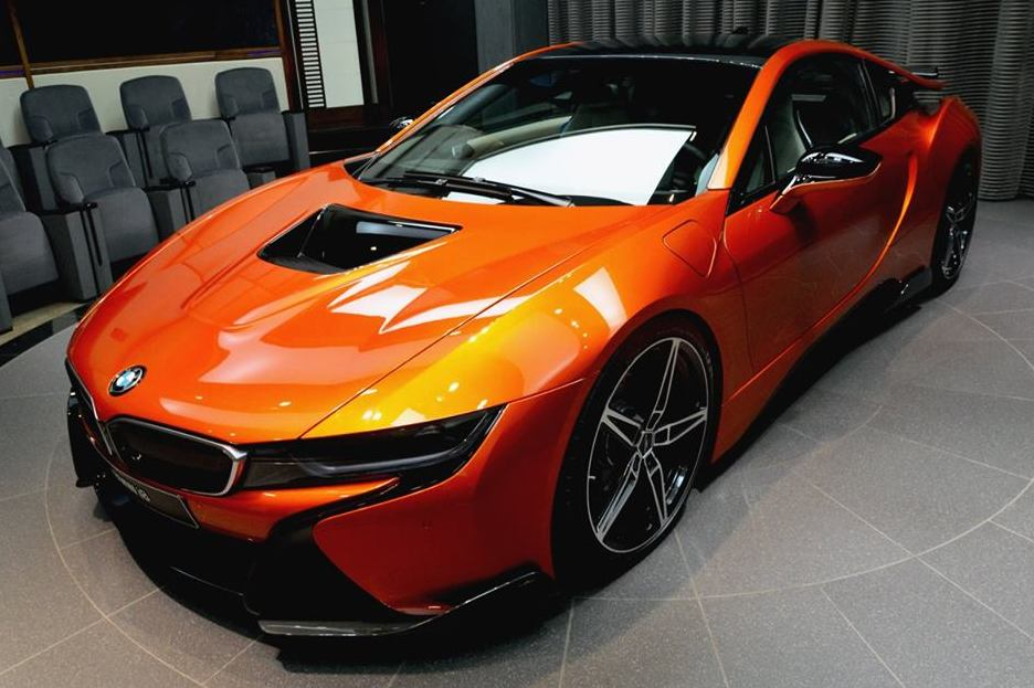 Lava Orange Bmw I8 With Ac Schnitzer Goodies