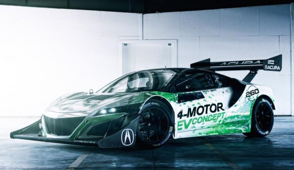 NSX Inspired Acura EV 1 600x346 at NSX Inspired Acura EV Concept Revealed for Pikes Peak