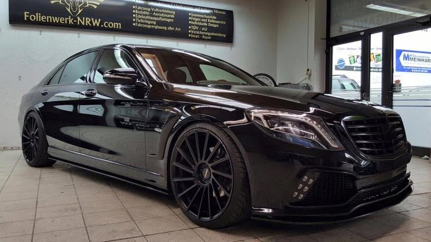 Black on Black Prior Design Mercedes S Class