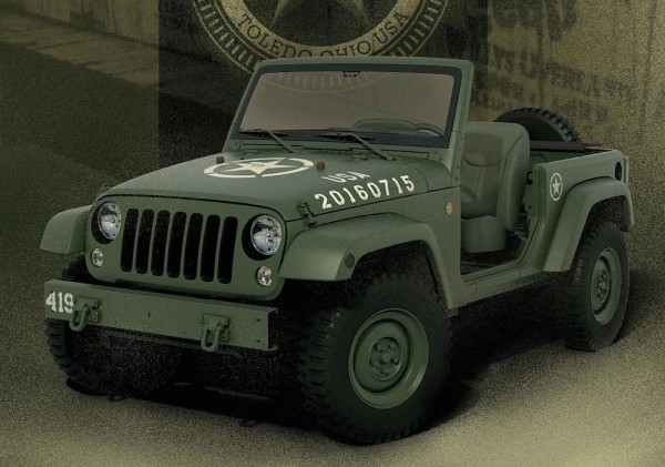 Jeep Wrangler 75th Salute 1 600x421 at Jeep Wrangler 75th Salute Edition Is Another WWII Tribute