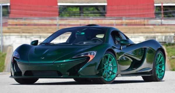 green mclaren p1 mso 0 600x322 at Green on Green McLaren P1 Hits the Auction Block