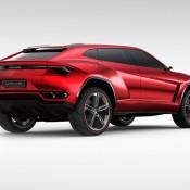 2012 Lamborghini Urus Concept Rear SIde 175x175 at Lamborghini History and Photo Gallery