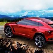 2012 Lamborghini Urus Concept Rear Side 3 175x175 at Lamborghini History and Photo Gallery