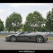 LaFerrari Aperta Grigio spot 2 175x175 at Sweet Looking LaFerrari Aperta Sighted Outside Factory