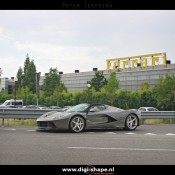 LaFerrari Aperta Grigio spot 3 175x175 at Sweet Looking LaFerrari Aperta Sighted Outside Factory