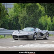 LaFerrari Aperta Grigio spot 4 175x175 at Sweet Looking LaFerrari Aperta Sighted Outside Factory