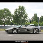 LaFerrari Aperta Grigio spot 5 175x175 at Sweet Looking LaFerrari Aperta Sighted Outside Factory