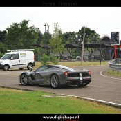 LaFerrari Aperta Grigio spot 6 175x175 at Sweet Looking LaFerrari Aperta Sighted Outside Factory