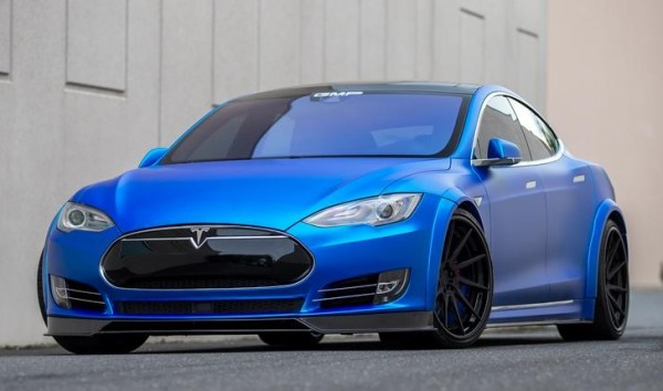 Matte Blue Tesla Model S 0 600x354 at Matte Blue Tesla Model S by GMP Performance