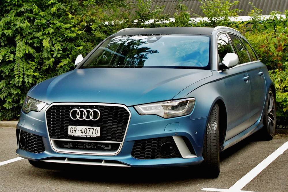 Matte Blue Audi Rs6 Is A Sight To Behold